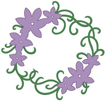 CTDI 7081 ~ FLOWER CIRCLE ~ Crafts Too Cut and Emboss Die